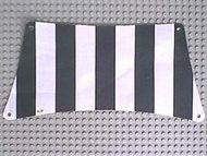 sailbb07-1G Zeil 30x15 Zwarte dikke strepen (Bodem) wit gebruikt *5D000