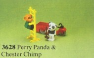 Set 3628-G - Fabuland: Perry Panda and Chester Chimp -/-/100%- gebruikt
