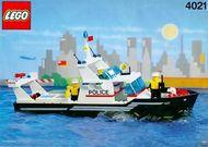 Set 4021 BOUWBESCHRIJVING- Police Patrol Politie Boot gebruikt loc