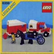 Set 6359 BOUWBESCHRIJVING- Horse Trailer  gebruikt loc LOC M2