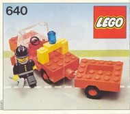 Set 640 BOUWBESCHRIJVING Fire Chief gebruikt loc LOC M1