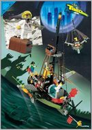 Set 6493 BOUWBESCHRIJVING- Flying Time Vessel  gebruikt loc