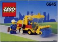 Set 6645 BOUWBESCHRIJVING- Street Sweeper gebruikt loc LOC M3
