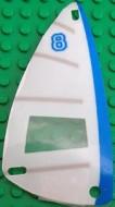 x66px13-12G Zeil 6x12 Horizontale grijze strepen, verticale blauwe streep (plastic) transparant gebruikt *5D000