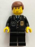 cty0101G Politieagent,strepen op wangen, roodbruinklassiek haar, badge, zwarte broek gebruikt loc
