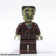mof017G Monsters: Monster met zandgroen hoofd gebruikt loc Halloween