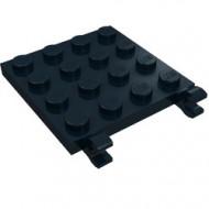 11399-11 Platte plaat 4x4 2 clips zwart NIEUW *