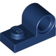 11458-63 Plaat 1x2 met pingat bovenop blauw, donker NIEUW *1L318