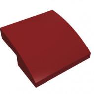 15068-59G Dakpan rond 2x2x2/3 geen noppen afgerond rood, donker gebruikt *1L278