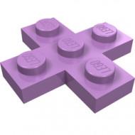 15397-157 Platte plaat 3x3 kruis lavender, midden NIEUW *1L0000