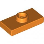 15573-4 Platte plaat 1x2 met 1 nop (loc 01-5) oranje NIEUW *1L347