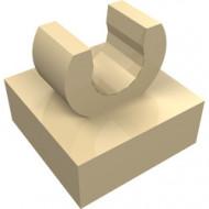 15712-2 Tegel 1x1 met clip bovenop afgeronde hoeken crème NIEUW *1L288/4
