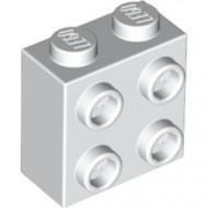 22885-1 Steen 2x2 met noppen aan één zijde wit NIEUW loc L2-13