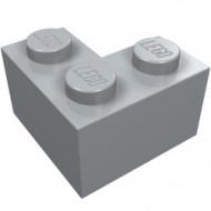 2357-86G Steen 2x2 hoek grijs, licht (blauwachtig) gebruikt *1L0000
