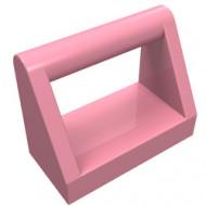 2432-23 Tegel 1x2 met hendel bovenop roze (klassiek) NIEUW *1L0000