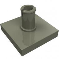 2460-10 Tegel 2x2 met pin donker, grijs (klassiek) NIEUW *1L0000