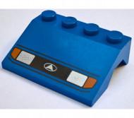 2513pb04-7G Spatbord (schuin front) metkoplampen blauw gebruikt *