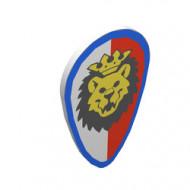 2586p4d-1G Schild ovaal leeuw wit/rode banen wit gebruikt *0L0000