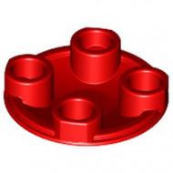 2654-5 Platte plaat 2x2 rond afgeronde bodem rood NIEUW *1L137