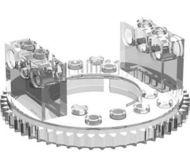 2855-12 Technic Draaischijf type 1 top transparant NIEUW *5D000