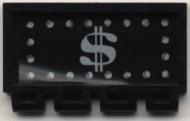 287pb01-11G Klapdeurtje met scharnier met dollarteken Zwart gebruikt loc
