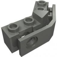 2991-85 Technic, gebogen steen 1x2 - 1x2 met bumperhouder grijs, donker (blauwachtig) NIEUW *