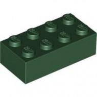 3001-80G Steen 2x4 groen, donker gebruikt *5K0000
