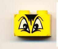 3004pb012-3G Steen 1x2 Driehoekige ogen en haren geel NIEUW *0K000