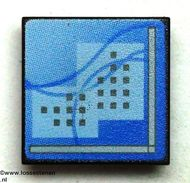 30258pb018-11 Computerscherm met blauw beeld CLIP ON zwart NIEUW loc
