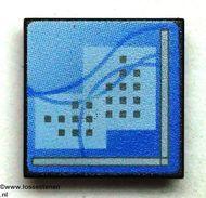 30258pb018-11 Computerscherm met blauw beeld CLIP ON zwart NIEUW *