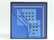 30258pb018-11G Computerscherm met blauw beeld CLIP ON zwart gebruikt *