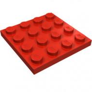 3031-5 Platte plaat 4x4 rood NIEUW *5K0000