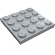 3031-86 Platte plaat 4x4 grijs, licht (blauwachtig) NIEUW *5K0000
