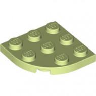 30357-158 Platte plaat 3x3 afgeronde hoek geelgroen NIEUW *5G000