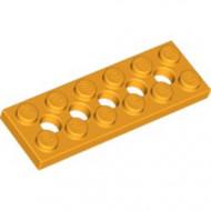 32001-110 Technic, Plaat 2x6 met gaten oranje, lichthelder NIEUW *