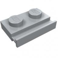 32028-86 Platte plaat 1x2 met deurrail grijs, licht (blauwachtig) NIEUW *1L290/5
