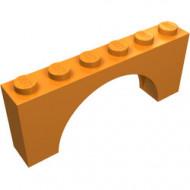 3307-4G Steen, boog 1x6x2 (niet-verhoogd zie ook 12939) oranje gebruikt *