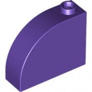 33243-89 Steen, 1x3x2 ronde top 90 graden massief paars, donker NIEUW *1L0000