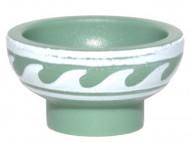 34172pb01-1 Aziatische kom met golfjes (COLTLNM)-16) groen, zandkleurig NIEUW *0L0000