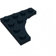 35044-11 Platte plaat 4x4 vierkant met ronde uitsnede zwart NIEUW *5D0000