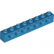 3702-153 Technic, steen 1x8 met 7 gaten blauw, donkerazuur NIEUW *