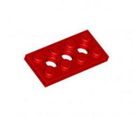 3709b-5G Technic, Plaat 2x4 met gaten rood gebruikt *