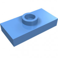 3794-42 Platte plaat 1x2 met 1 nop (loc 01-5) ZIE OOK 15573 blauw, midden NIEUW *1L233/11