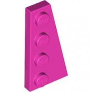 41769-47 Wig plaat 4x2 rechts roze, donker NIEUW *1L223+4