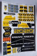42081stk01 STICKER 42081 Volvo Concept Wheel Loader ZEUX NIEUW *0S0000