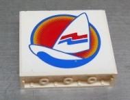 4215pb007-1G Paneel 1x4x3 Surfboard en zeil wit gebruikt *0D0000
