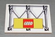4515pb009-1G Dakpan 10 graden 6x8 Hek en LEGO logo (sticker) Wit gebruikt loc