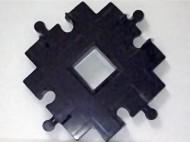 4646-11 DUPLO Treinrail kruising 90 graden zwart gebruikt *