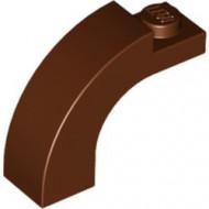 6005-88 Steen, boog 1x3x2 boven rond 1 nop bovenop bruin, roodachtig gebruikt *1L000