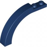 6060-63 Steen, boog 1x6x3 1/3 (90 graden) blauw, donker NIEUW *1L000